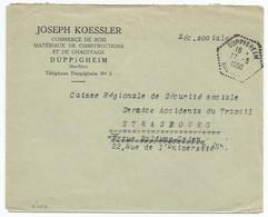 C450 - DUPPIGHEIM - Bas Rhin - 1950 - Alsace - Entête KOESSLER Commerce De Bois - - Elsass-Lothringen