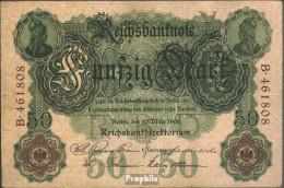 Deutsches Reich Rosenbg: 25a, 6stellige Kontrollnummer Gebraucht (III) 1906 50 Mark - 50 Mark