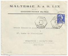 C452 - EBERSHEIM - Bas Rhin - 1958 - Alsace - Entête Malterie LIX à EBERMUNSTER - - Elsass-Lothringen