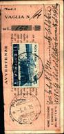 23676) ERITREA- 1 LIRA. Serie Pittorica-AEREA-SU RICEVUTA DI VAGLIA -FICCE IL 5-4-1939 - Eritrea