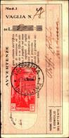 23697) LIBIA- 50 C. Pittorica Di Tripolitania Sopras. LIBIA-AEREA -SU RICEVUTA DI VAGLIA -TARHUNA IL 19-1-1940 - Eritrea