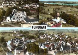 CPSM TURQUANT 49 Multivues, Le Château, Le Moulin, Vue Générale, L'Eglise - Altri Comuni