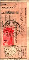 23698) LIBIA- 50 C. Pittorica Di Tripolitania Sopras. LIBIA-AEREA -SU RICEVUTA DI VAGLIA -TARHUNA IL 22-2-1940 - Eritrea