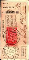 23705) LIBIA- 50 C. Pittorica Di Tripolitania Sopras. LIBIA-AEREA -SU RICEVUTA DI VAGLIA -TARHUNA IL 4-3-1940 - Eritrea