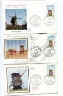 Steenvoorde Moulin Vent FDC Enveloppes 1er Jour (3) - 1970-1979