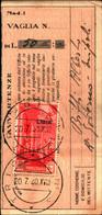 23711) LIBIA- 50 C. Pittorica Di Tripolitania Sopras. LIBIA-AEREA -SU RICEVUTA DI VAGLIA -TRIPOLI IL 20-7-1940 - Eritrea