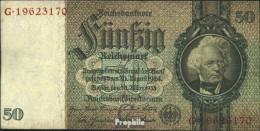 Deutsches Reich Rosenbg: 175b, Udr.-Bst.: C, Serien: F-K, KN 8-stellig Gebraucht (III) 1933 50 Reichsmark - 50 Reichsmark