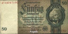 Deutsches Reich Rosenbg: 175b, Udr.-Bst.: A, Serien: F-K, KN 8-stellig Gebraucht (III) 1933 50 Reichsmark - 50 Reichsmark