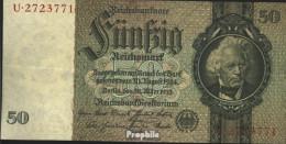 Deutsches Reich Rosenbg: 175a, Udr.-Bst.: Z, Serien: Q-U, KN 7-stellig Gebraucht (III) 1933 50 Reichsmark - 50 Reichsmark