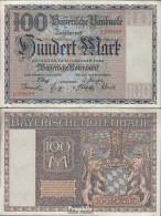 Bayern Rosenbg: BAY4, Länderbanknote Bayern Gebraucht (III) 1922 100 Mark - 100 Mark
