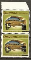 Guyana 1981 MiNr. 683 - 684 Fishes Black Acara  2v MNH** 0,60 € - Guyana (1966-...)