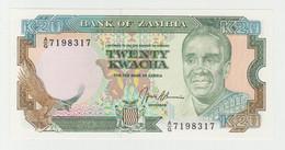 Zambia 20 Kwacha 1989 P-32b UNC - Zambia