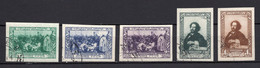 1944. RUSSIA, SOVIET, I. E. REPIN, 100 YEARS OF BIRTH, SET OF 5 STAMPS, IMPERF. USED - Used Stamps