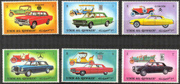 {UU017} Umm Al Qiwain Cars Set Of 6 MNH - Umm Al-Qaiwain