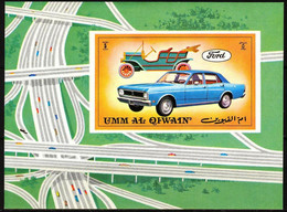 {UU018} Umm Al Qiwain Cars S/S MNH - Umm Al-Qaiwain
