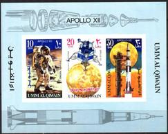 {UU023} Umm Al Qiwain Space Apollo 12 S/S MNH - Umm Al-Qaiwain