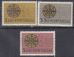 PORTUGAL 1000-1002, Postfrisch **, 6. Kongress Des Int.Komitees Zur Verteidigung Der Christlichen Kultur, Lissabon, 1966 - Ongebruikt