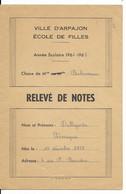DALLAPORTA......CARNET DE NOTES .....ARPAJON 1966............ - Diplomas Y Calificaciones Escolares