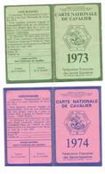 DALLAPORTA...... CARTE NATIONALE DE CAVALIER......2 CARTES 1974-1973- - Otros