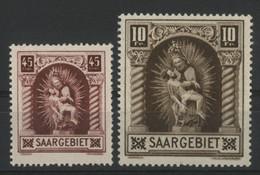 SARRE N° 101 Et 102 COTE 50 € Neuf ** MNH (petite Tâche Au Verso Du N° 102) PIETA DE BLIESKASTEL - Ungebraucht