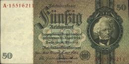 German Empire Rosenbg: 175b, Udr.-Bst.: K, Series: A-e, KN 8-stellig Used (III) 1933 50 Reichsmark - 50 Reichsmark
