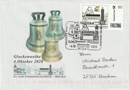 DV 161) BRD 2020 SSt 81247 München, Glockenweihe Trinitatiskirche, Die Personalisierte Marke Zeigt Den Altar - Music