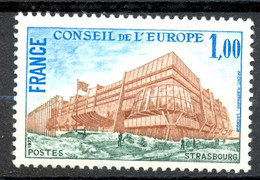 Timbre De Service Neuf - 1977 Y&T 54 Mi 21 - CONSEIL DE L'EUROPE STRASBOURG - (1) - Neufs