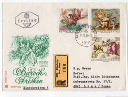 OSTERREICH BAROCK FRESKEN 1968 - FDC