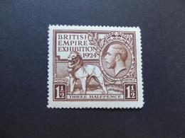 GREAT BRITAIN SG 431 1924 BRITISH EMPIRE EXHIBITION MINT - Ohne Zuordnung
