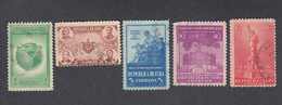 Cuba, Scott #368-372, Used, Spirit Of Democracy, Issued 1942 - Used Stamps