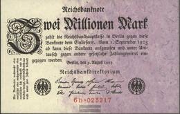 German Empire Rosenbg: 102c, Privatfirmendruck Red Firmenzeichen Used (III) 1923 2 Million Mark - 2 Millionen Mark