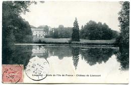 60140 LIANCOURT - Lot De 2 CPA éditeur Breger - Château, Ecole De L'Île De France - Liancourt
