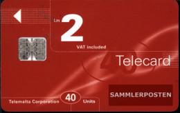 Malta 1450  40 Units Used 1997 Telecard - Malta