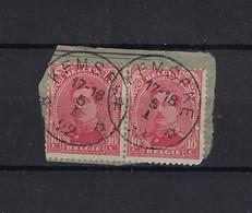 N°138 GESTEMPELD *Kemseke* 1922 - 1915-1920 Albert I.