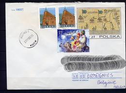 Lil3AC44 POLOGNE Lettre 2005 Kutno Pour Ormeignies Belgique Affr. Multiple - Brieven En Documenten