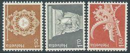 1973 SVIZZERA ARCHITETTURA E LAVORI ARTIGIANALI MNH ** - RD17-7 - Unused Stamps