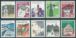 1973 SVIZZERA PAESAGGI MNH ** - RD20-2 - Unused Stamps