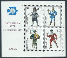 1974 SVIZZERA FOGLIETTO INTERNABA DI BASILEA MNH ** - RD22 - Blocks & Sheetlets & Panes