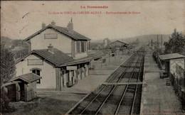 27-LA GARE DE PONT DE L'ARCHE-ALIZAY...EMBRANCHEMENT DE GISORS    ...CPA - Pont-de-l'Arche