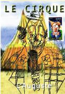 """"""" CIRQUE : L'AUGUSTE """" Sur Carte Maximum De 2008 N°YT 4218. Parfait état CM - Zirkus"""