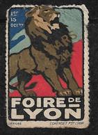 """France  Vignette """" Foire De Lyon 1er Au  15 Octobre 1924  """"     Neuf  AB  Soldé ! ! ! - Tourisme (Vignettes)"""