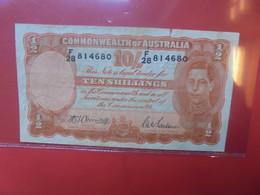AUSTRALIE 10 SHILLINGS 1939-52 Circuler (B.21) - 1938-52