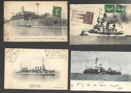 Lot De 19 Bateaux De Guerre - Guerra