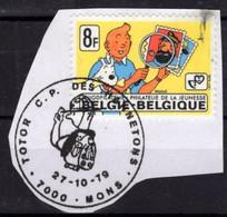 BELGIQUE 1939 Cachet MONS 27 Oct 1979 Totor C.P. Des Hannetons HERGE TINTIN  Fragment Taché - Bandes Dessinées