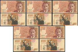 Colombia - 5 Pcs X 1000 Pesos 2015 UNC P. 456t Lemberg-Zp - Kolumbien