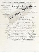 13 - Bouches-du-rhône - AIX-EN-PROVENCE - Facture CAGLI & CARCASSONNE - Confections, Fourrures - 1904 - REF 174B - 1900 – 1949