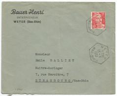 C870 - WEYER - Bas Rhin - 1951 - Alsace - Entrepreneur BAUER - - Elsass-Lothringen