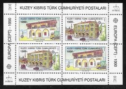 Cyprus (Turkish Posts) 1990 Europa CEPT Miniature Sheet MNH - Nuovi