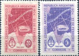 Ref. 283152 * NEW *  - ARGENTINA . 1947. 43RD ANNIVERSARY OF THE FIRST ARGENTINE ANTARCTIC MAIL. 43 ANIVERSARIO DEL PRI - Nuovi