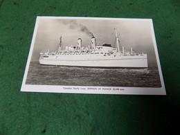 VINTAGE TRANSPORT SEA: Empress Of France Canadian Pacific Liner B&w 1963 - Altri